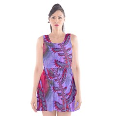 Freaky Friday Red  Lilac Scoop Neck Skater Dress