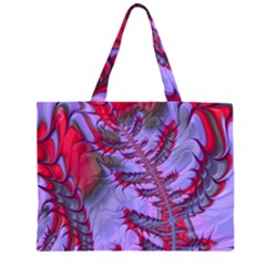 Freaky Friday Red  Lilac Zipper Large Tote Bag