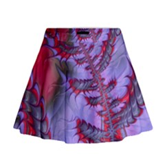 Freaky Friday Red  Lilac Mini Flare Skirt