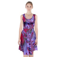 Freaky Friday Red  Lilac Racerback Midi Dress
