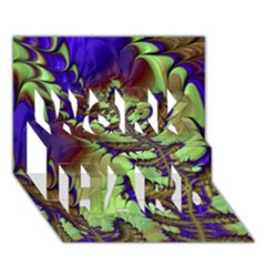Freaky Friday, Blue Green WORK HARD 3D Greeting Card (7x5)