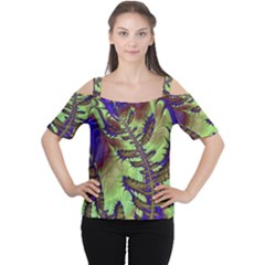 Freaky Friday, Blue Green Women s Cutout Shoulder Tee