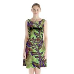 Freaky Friday, Blue Green Sleeveless Chiffon Waist Tie Dress