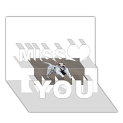 Jack Russell Terrier Running 2 Miss You 3D Greeting Card (7x5)
