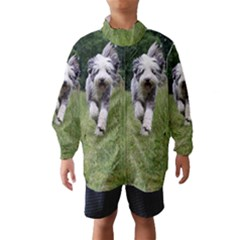 Bearded Collie In Motion Wind Breaker (Kids)