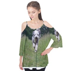 Bearded Collie In Motion Flutter Tees