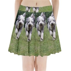Bearded Collie In Motion Pleated Mini Skirt