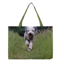 Bearded Collie In Motion Medium Tote Bag