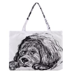 Newfoundland Art Medium Zipper Tote Bag