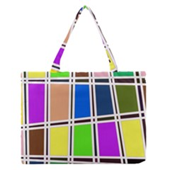 Abstract Medium Zipper Tote Bag