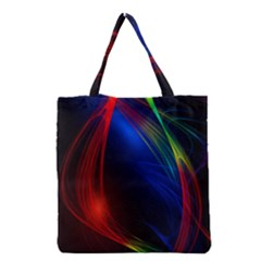 Abstract Line Wave Design Pattern Grocery Tote Bag