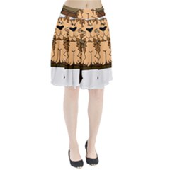 Cat Bench Sit Cute Pleated Skirt