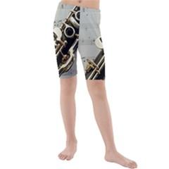 Clarinet Musical Instrument Woodwind Kids  Mid Length Swim Shorts