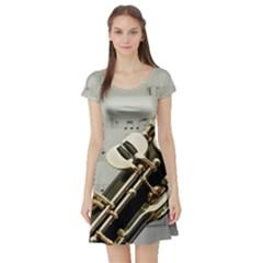 Clarinet Musical Instrument Woodwind Short Sleeve Skater Dress