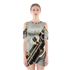 Clarinet Musical Instrument Woodwind Cutout Shoulder Dress