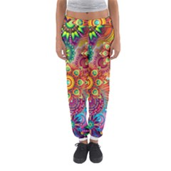 Colorful Abstract Background Women s Jogger Sweatpants