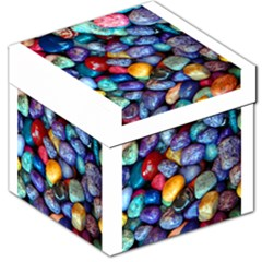 Colorful Rocks Stones Background Storage Stool 12