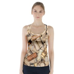 Corks Array Background Shape Wine Racer Back Sports Top