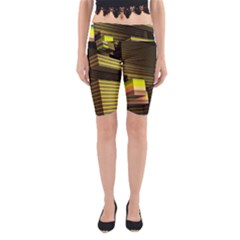 Cubic Blocks Abstract Cube Yoga Cropped Leggings