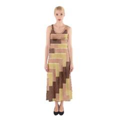 Fabric Textile Tiered Fashion Sleeveless Maxi Dress