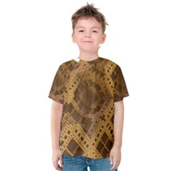 Fractal Abstract Rendering Backdrop Kids  Cotton Tee