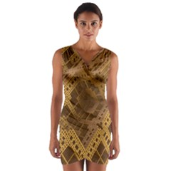 Fractal Abstract Rendering Backdrop Wrap Front Bodycon Dress