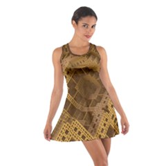 Fractal Abstract Rendering Backdrop Cotton Racerback Dress