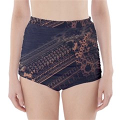 Fractals Abstraction Tla Designs  High-Waisted Bikini Bottoms