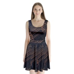Fractals Abstraction Tla Designs  Split Back Mini Dress