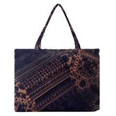 Fractals Abstraction Tla Designs  Medium Zipper Tote Bag