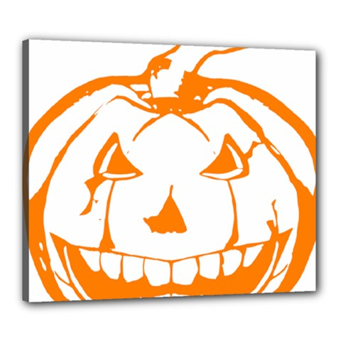 Halloween Pumpkin Scary Bad Scarry Canvas 24  x 20