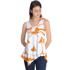 Halloween Pumpkin Scary Bad Scarry Sleeveless Tunic
