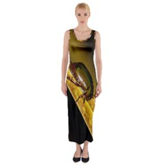Insect  Fitted Maxi Dress