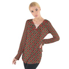 Pattern Women s Tie Up Tee