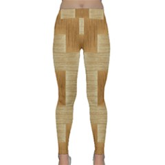 Texture wood Yoga Leggings