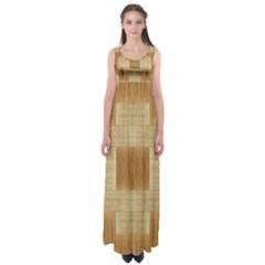 Texture wood Empire Waist Maxi Dress