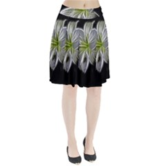 White Lily Flower Nature Beauty Pleated Skirt