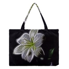White Lily Flower Nature Beauty Medium Tote Bag