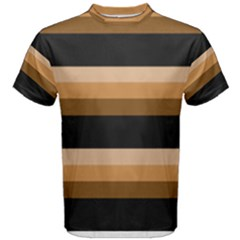 Shades of Brown with Black Men s Cotton Tee