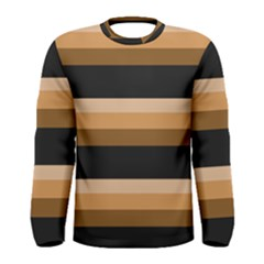 Shades of Brown with Black Men s Long Sleeve Tee