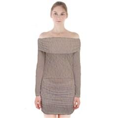 Artexleaf Long Sleeve Off Shoulder Dress