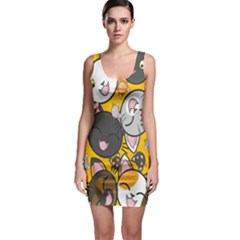 Cats Cute Kitty Kitties Kitten Sleeveless Bodycon Dress