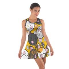 Cats Cute Kitty Kitties Kitten Cotton Racerback Dress