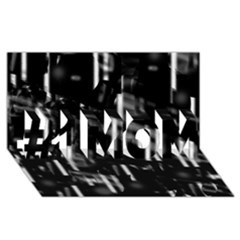 Black and white neon city #1 MOM 3D Greeting Cards (8x4)