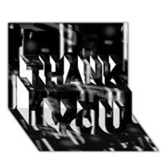 Black and white neon city THANK YOU 3D Greeting Card (7x5)