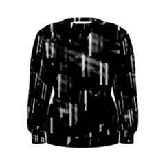 Black and white neon city Women s Sweatshirt