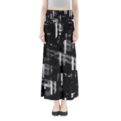 Black and white neon city Maxi Skirts
