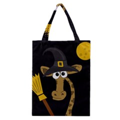 Halloween giraffe witch Classic Tote Bag