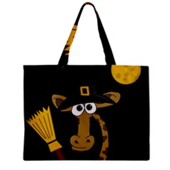 Halloween giraffe witch Zipper Mini Tote Bag