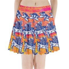 Little Flying Pigs Pleated Mini Skirt